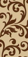 Ковровая VISION DELUXE carving D129 BEIGE-BROWN